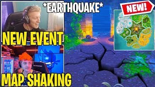 Streamers React/Experience *NEW* Fortnite EARTHQUAKE Event!! (Map Shaking)