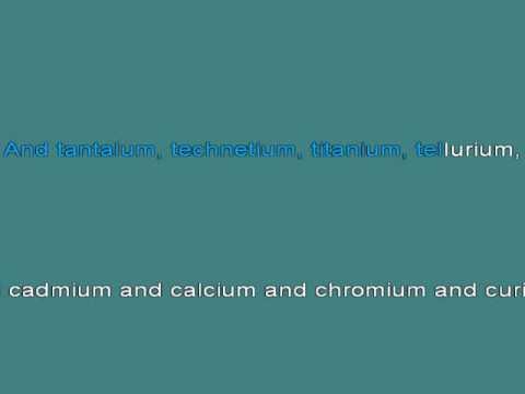 elements tom lehrer karaoke - Periodic Table Karaoke