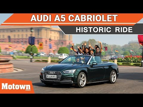 Audi A5 cabriolet, a fun drive around Delhi