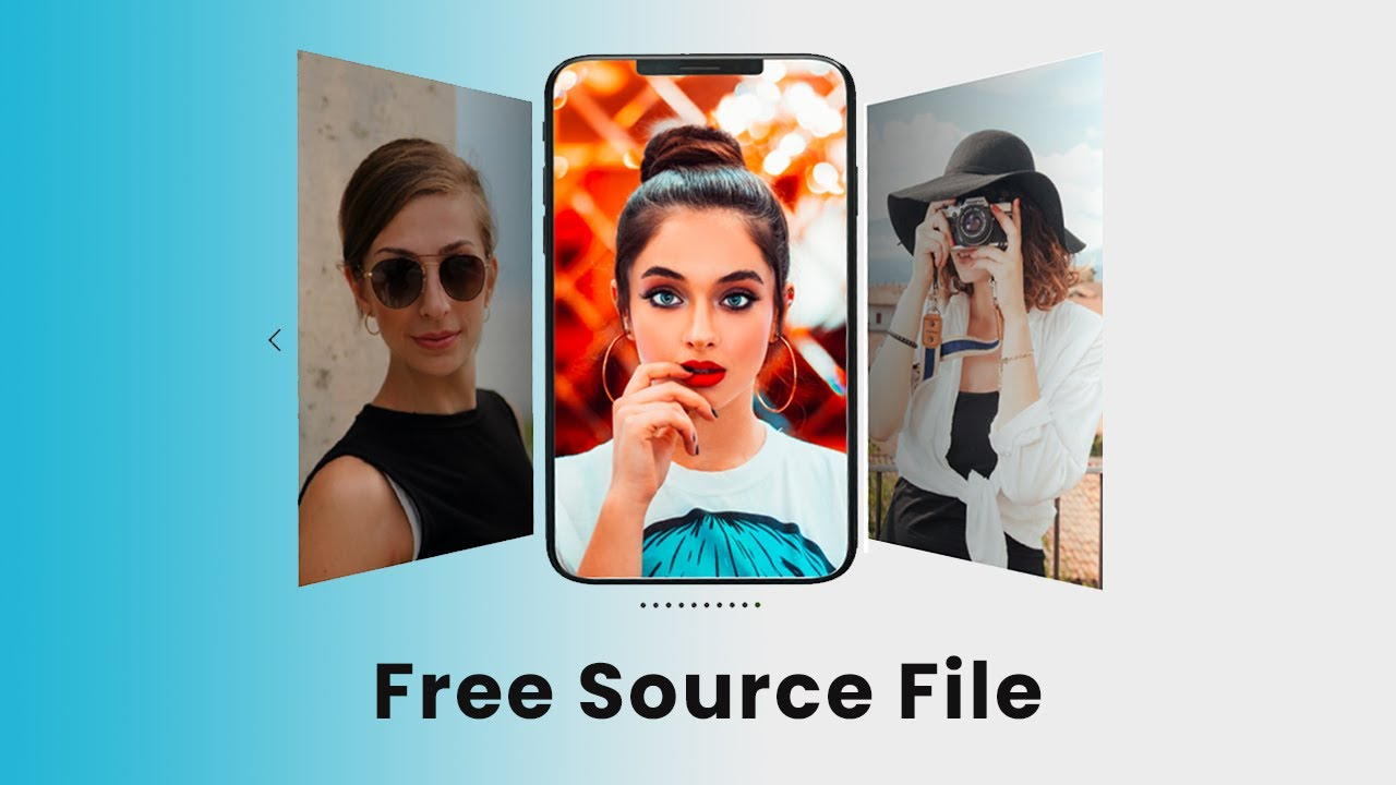 How to Make Coverflow Touch Swiper Effect using HTML, CSS, jQuery