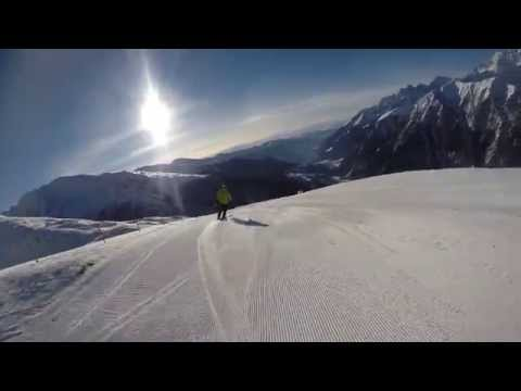Heiligenblut skiing on piste 2 and 2a
