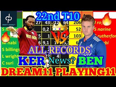 KER vs BEN 22nd Match dream11 Team prediction | kerala knights vs bengal tigers All Records 🔥🔥🔥🔥