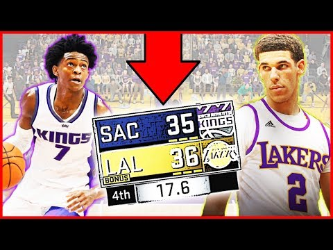 LONZO BALL VS DE'AARON FOX! DOWN TO THE WIRE! - NBA 2K17 Gam