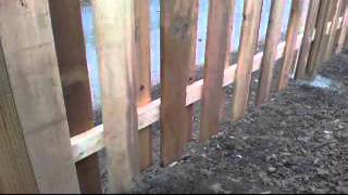 A Fence Video Of A 6' High Good Neighbor Wood Fence