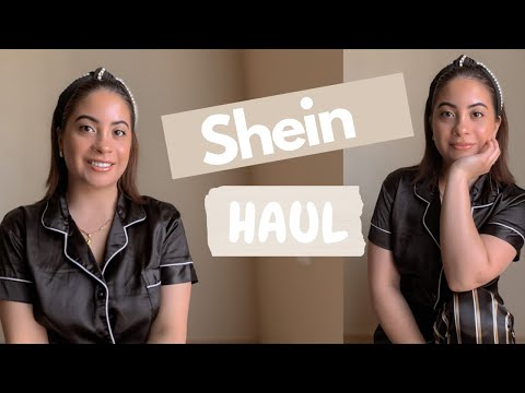 shein-pajamas-try-on-haul- -hair-accessories