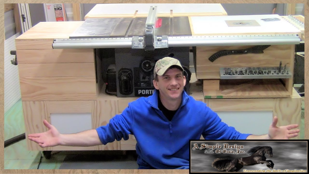 Building a Tablesaw Base Part 2 - YouTube