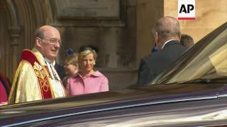 UK royals arrive for traditional Easter service