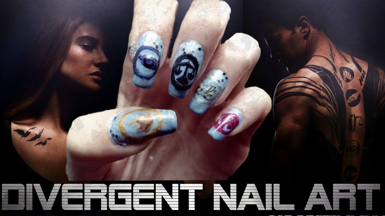 Nail Art Insurgent Divergent Nail Design Tutorial Youtube