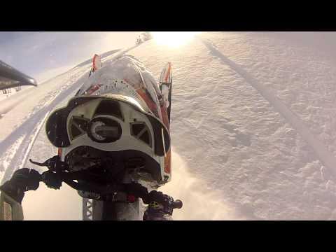 Utah Gopro Footage Turbo Arctic Cat m8 Snowmobile Wheelie's entire STEEP hill Boondocking thru Trees