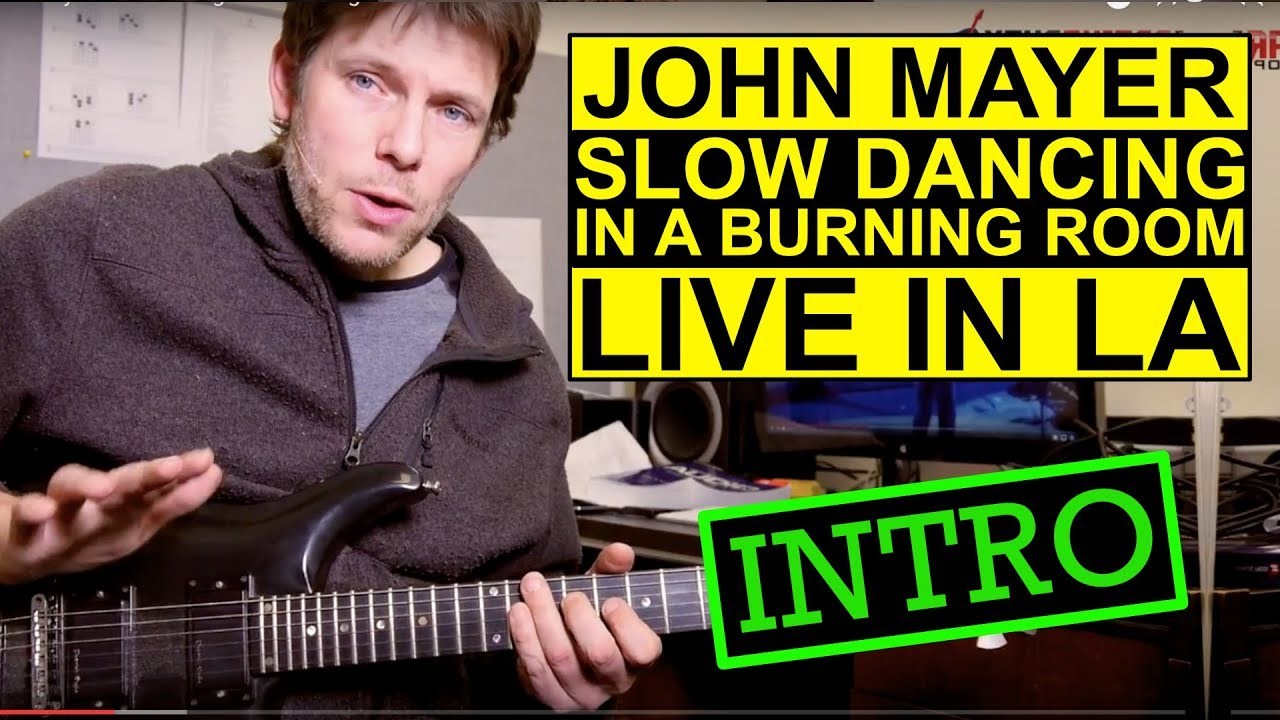 How To Play Slow Dancing In A Burning Room Live In La Guitar Lesson Intro Youtube