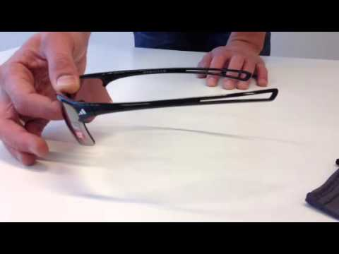 3e036364f5c1 adidas Raylor S Shiny Black Zonnebril - YouTube