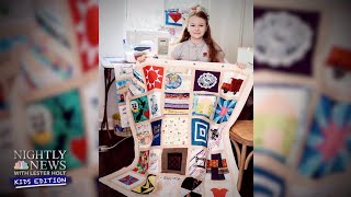 Teenager Is On A Mission To Stitch Some Hope Back Into Our Lives | Nightly News: Kids Edition