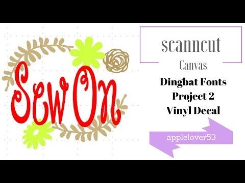 Dingbat Fonts Project 2 Vinyl Decal