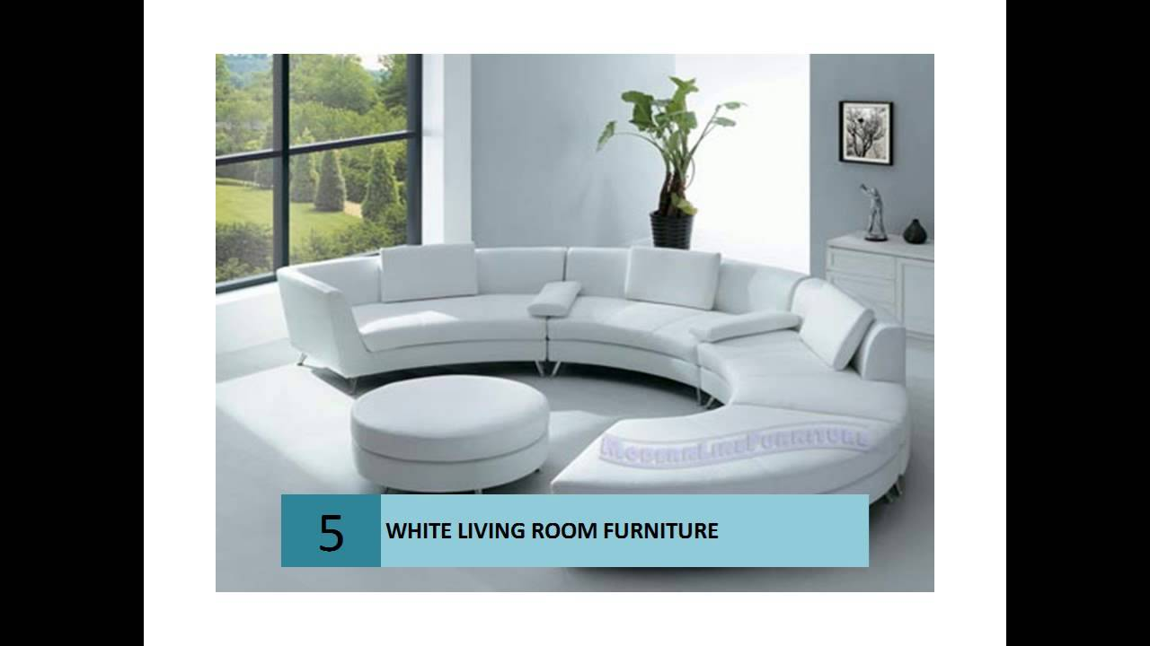 Modern White Color Living Room Furniture
