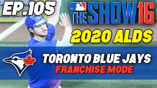 """MLB The Show 16 Blue Jays Franchise ep. 105 - """"OVER THE WALL!"""" (Game 2 Hayes vs Rodriguez)"""