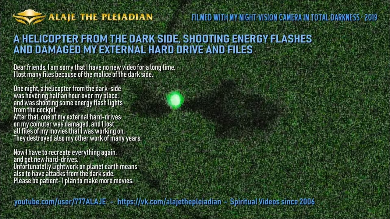PLEIADIAN ALAJE - Helicopter from the dark-side attacking me - 2019