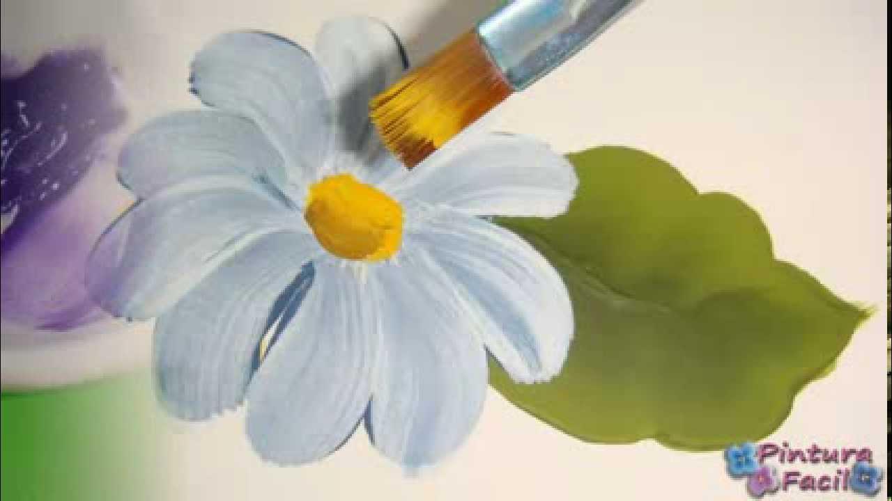 Como pintar con doble carga one stroke painting pintura - Pintar con acrilicos paso a paso ...