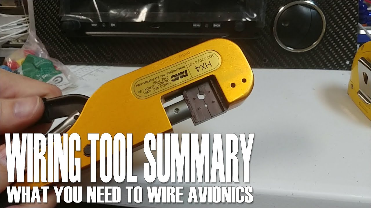 Aviation Wiring Tools Diagrams Schematics Harness Tool Summary What You Need To Wire Avionics Youtube Aircraft Microphone Connector