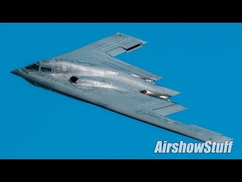 B-2 Spirit Stealth Bomber Flybys - EAA AirVenture Oshkosh 2017