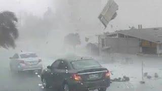 Ужасный шторм конец света обрушился в Европе! Мощный град уничтожает машины в Турине! Плохие погоды