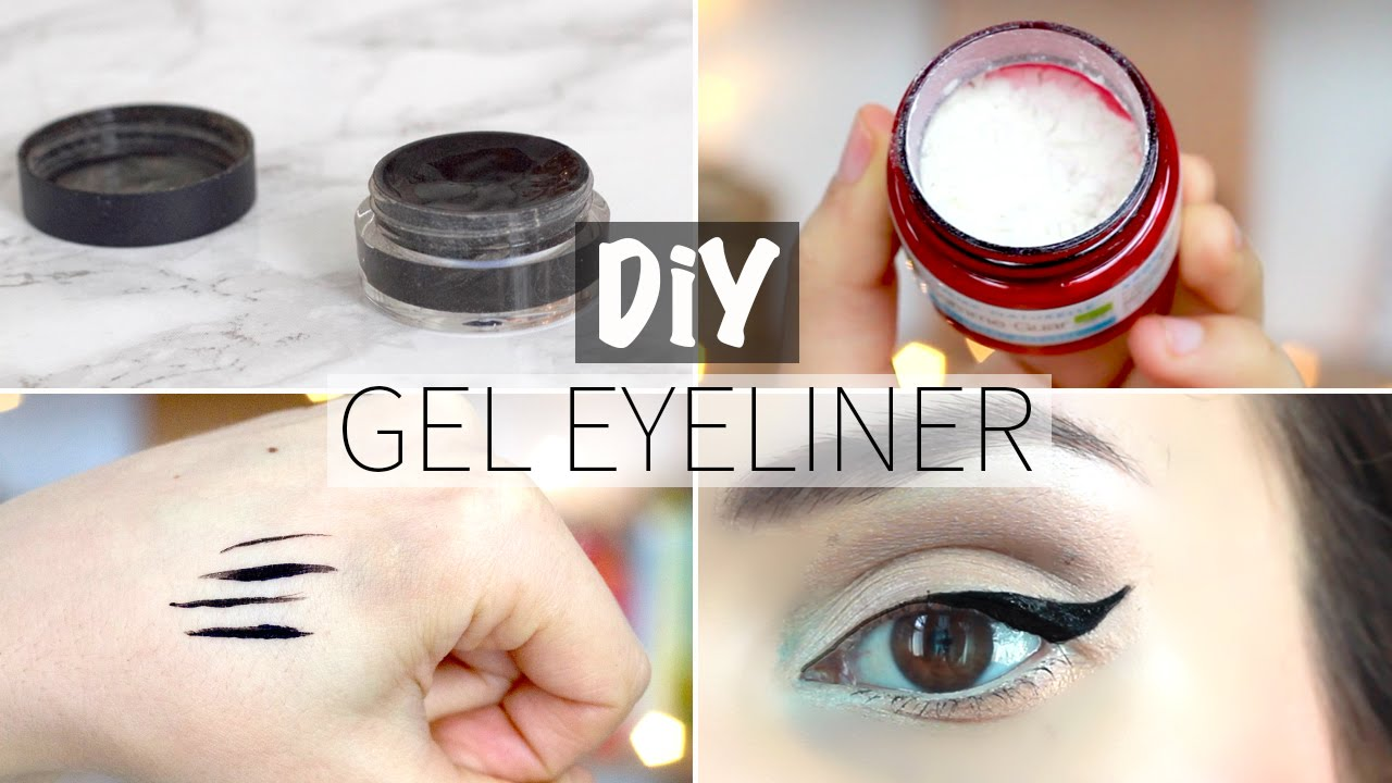 diy gel liner diy natural gel eyeliner from scratch youtube