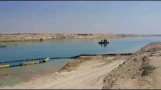 New Suez Canal scene in March 25, 2015