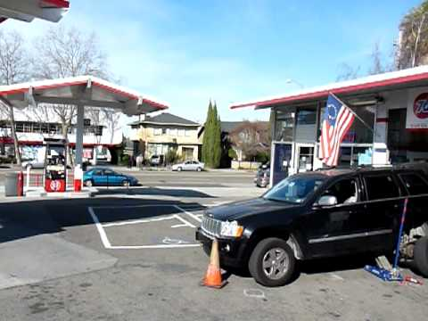 Flying Rod visits Gas Station