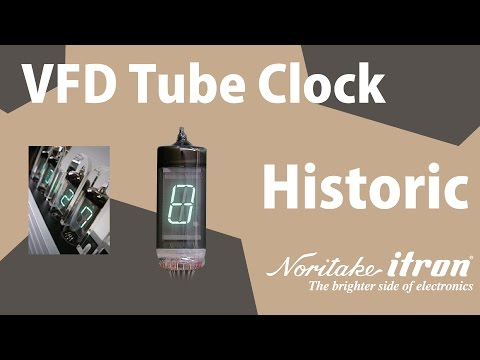 Noritake Historic VFD: Digital Tube Clock - Controlled by PIC
