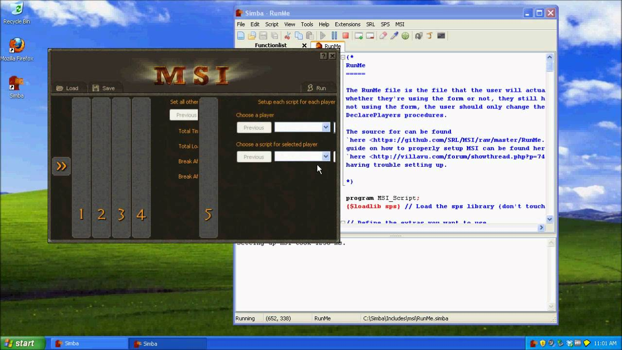 Simba RuneScape macro how-to - working after bot-nuke!