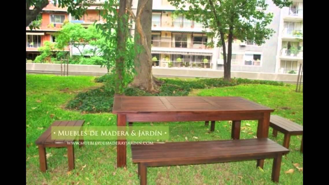 Bancos - Muebles de madera y jardín .COM - YouTube