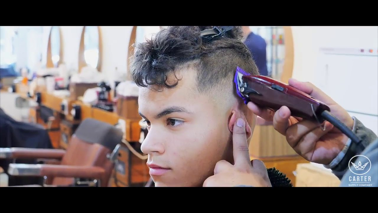 Wavy Undercut Hairstyle For Men With Curly Hair Youtube