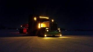 Дальнобой по США. Дрифтую на траке. Первый снег, зима.