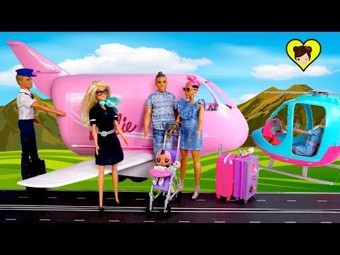 Familia LOL Jet Set Qt  - Bebé LOL Surprise y Mama Barbie Viajan en Avion