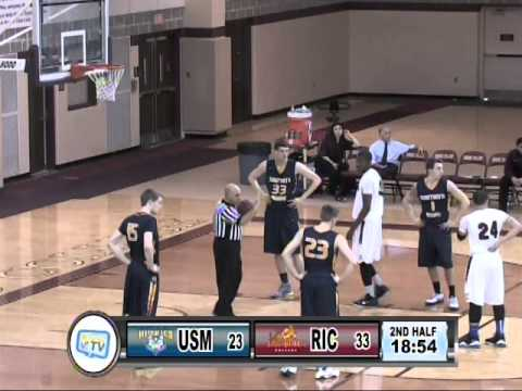 RIC Anchormen Basketball vs University of Southern Maine 2-14-15
