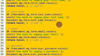 Html javascript form validation tutorial download the code