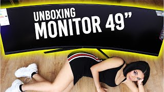 "Unboxing Monitor GIGANTESCO da 49"" ULTRA-Wide"