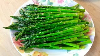 Pan Fried Asparagus - Easy And Delicious In Only 5 Minutes - Poormansgourmet