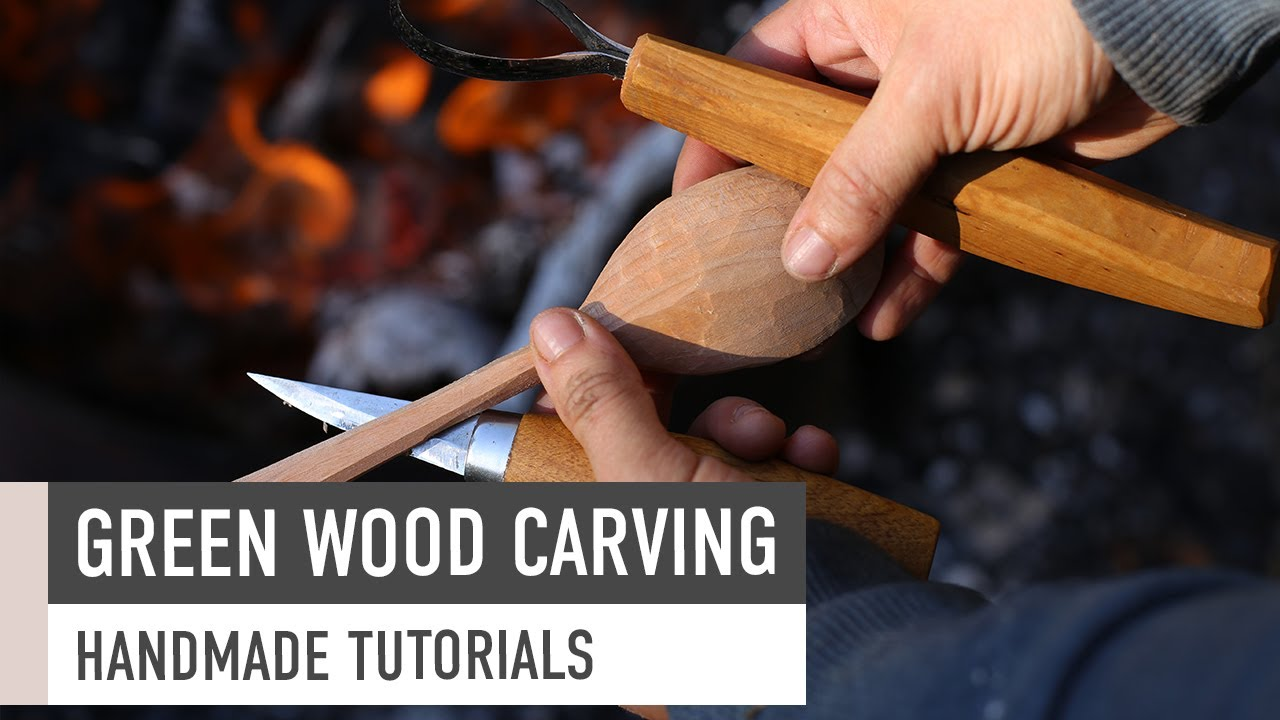 Green Wood Spoon Carving // Woodworking - YouTube