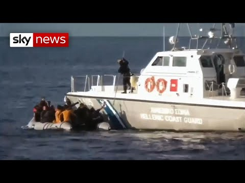 Greek coastguard filmed stopping migrants coming ashore