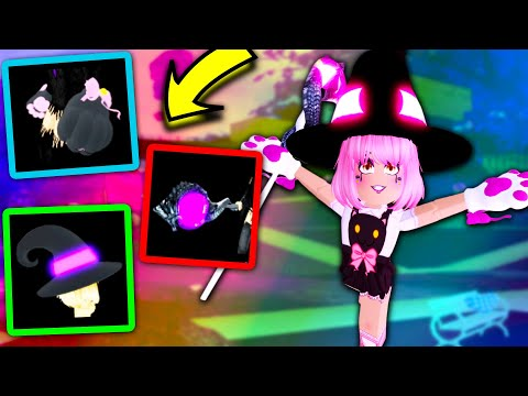 GET THESE FOR FREE (NO HOMESTORE) KITTY PAWS,  WITCH HAT, DRAGON STAFF! Roblox Royale High Halloween