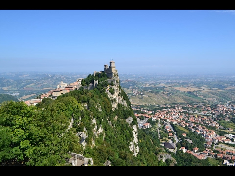 San Marino in Europe  amazing views HD