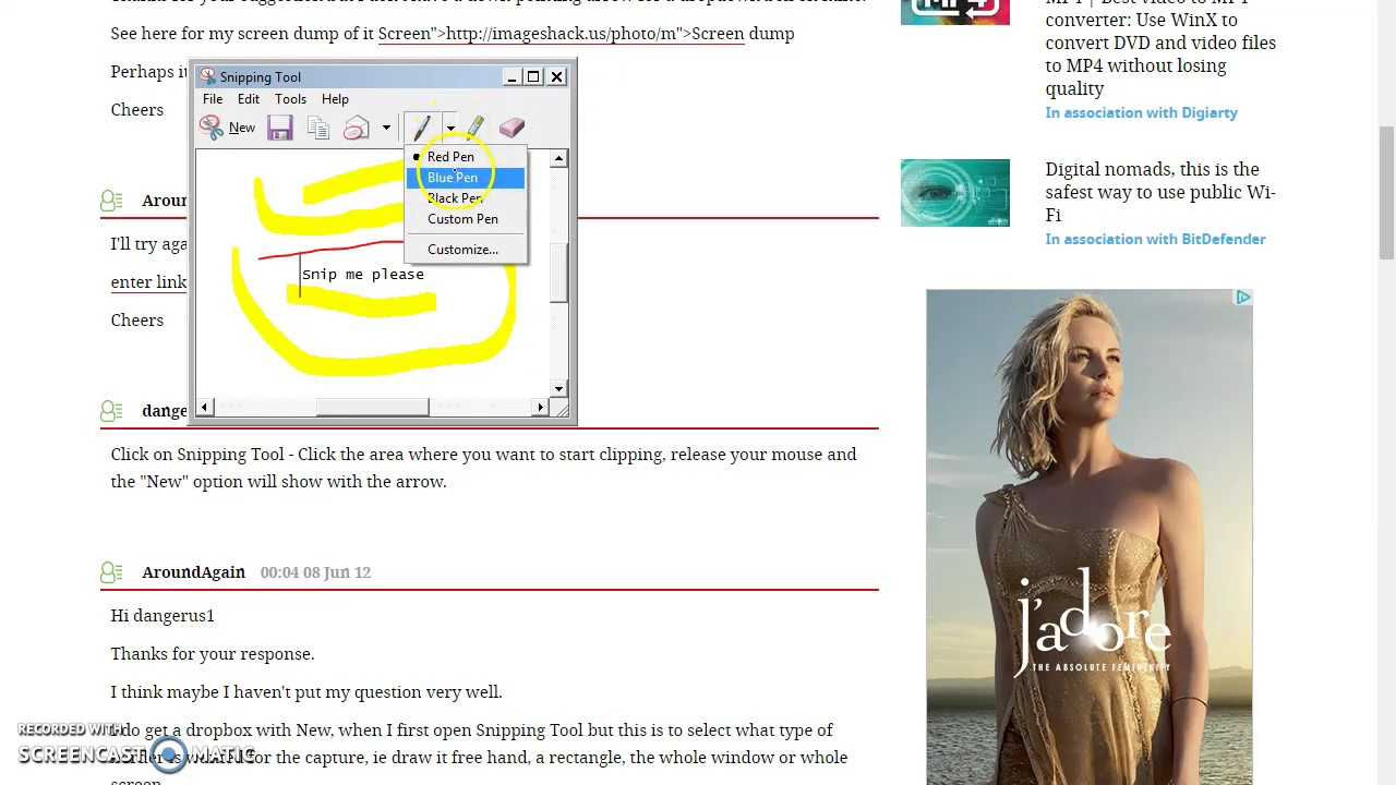 How To Annotate A Snip Using Snip Tool