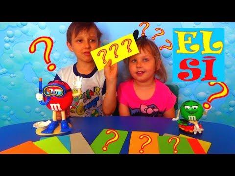 M&Ms ЧЕЛЛЕНДЖ загадывает  Детские загадки. Мальчики ПРОТИВ Девочек на канал ELSI