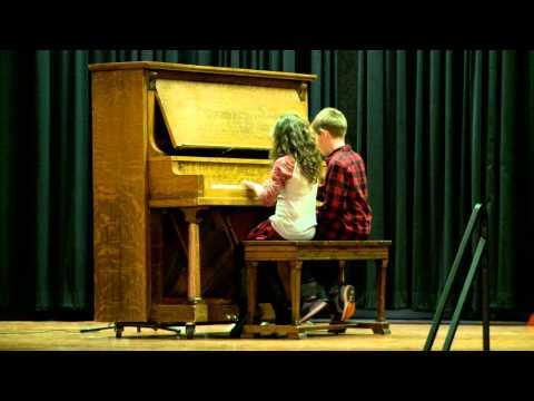 Sharing Heart and Soul - Mac and Addie Piano Duet Performance