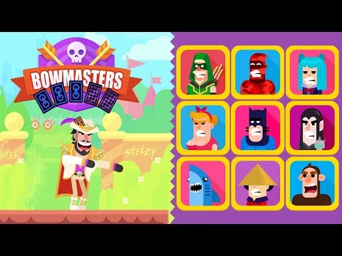 Bowmasters - Ron Gambler Etienne vs All Characters - Gameplay
