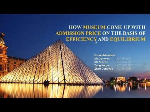 PRICING OF MUSEUM ON THE BASIS OF EFFICIENCY AND EQUILIBRIUM (Subtitled)