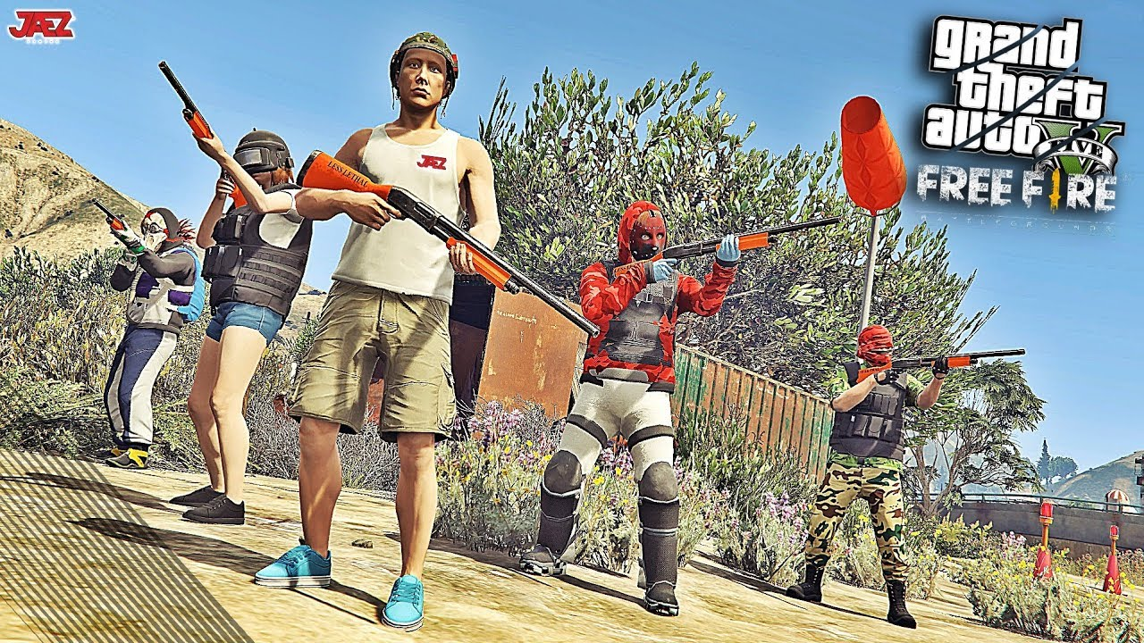 Gta V Free Fire Battlegrounds Squad Alpha Contra Pro Player Youtube