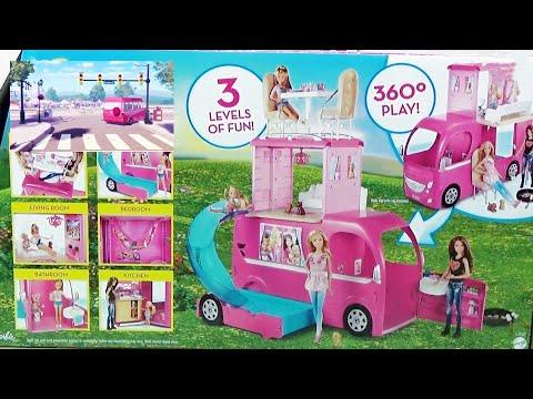 Барби в доме мечты Авто-домик с кухней, спальней и бассейном!  Barbie Pop-Up Camper 2015