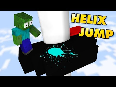 Monster School : Helix Jump CHALLENGE - Minecraft Animation