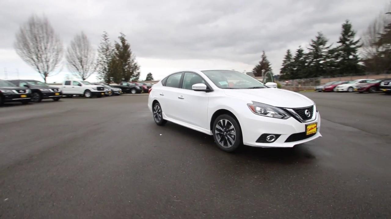 2017 Nissan Sentra Sr Aspen White Hy243773 Kent Tacoma